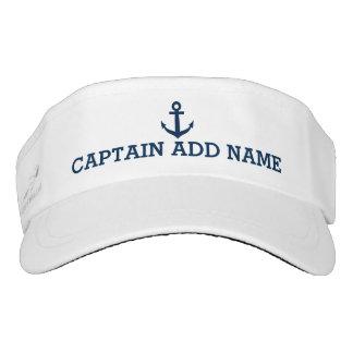 Boat captain hats   nautical anchor sun visor cap