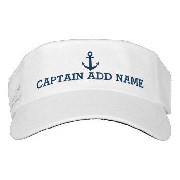 logotees Boat captain hats | nautical anchor sun visor cap
