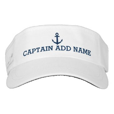 logotees Boat captain hats | nautical anchor sun visor cap