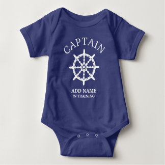 Boat Captain In Training (Personalize Name) Baby Bodysuit
