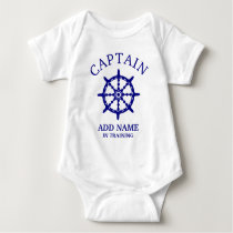 Boat Captain In Training (Personalize Name) Light Baby Bodysuit