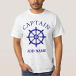 """Boat Captain (Personalize Captain&#39;s Name) Light T-Shirt<br><div class=""""desc"""">Boat Captain (Personalize Captain&#39;s Name) With Ship Steering Wheel Light T-Shirt.</div>"""