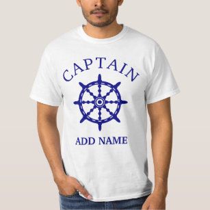 Boat Captain (Personalize Captain's Name) Light T-Shirt