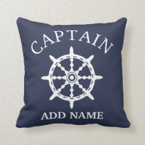 Boat Captain (Personalize Captain's Name) Throw Pillow