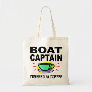 Boat Captain Powered By Coffee Budget Tote Bag