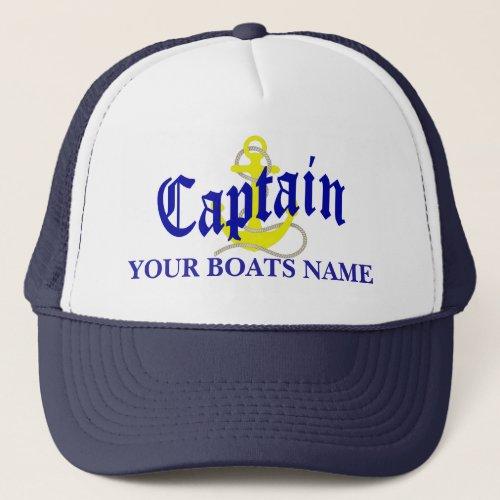 Boat Captains anchor Trucker Hat