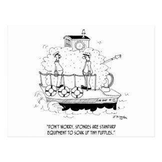 Boat Cartoon 5582 Postcard