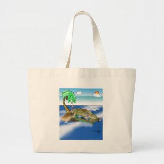 Boat Cartoon 9418 Large Tote Bag