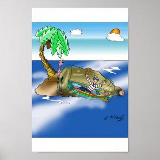 Boat Cartoon 9418 Poster