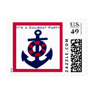 Boat Club or Sailboat Party Postage