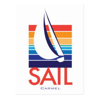 Boat Color Square_Carmel Postcard