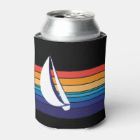 Boat Color Square_horizontal hues_custom designed Can Cooler