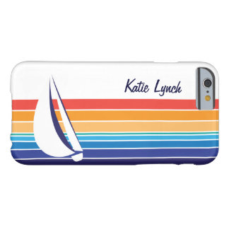 Boat Color Square_horizontal hues_personalized Barely There iPhone 6 Case