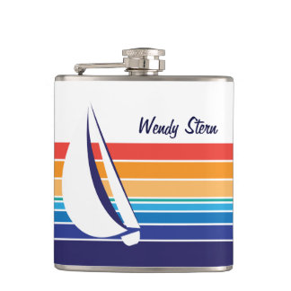 Boat Color Square_horizontal hues_personalized Flask
