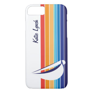 Boat Color Square_horizontal hues_personalized iPhone 8/7 Case