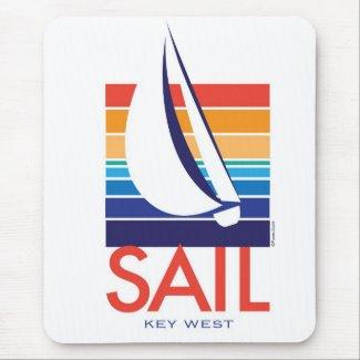 Boat Color Square_Key West mousepad mousepad