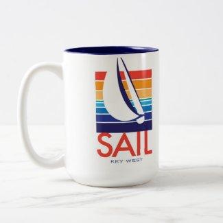 Boat Color Square_Key West mug mug