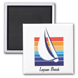 Boat Color Square_Laguna Beach magnet