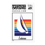 Boat Color Square_Lahaina postage