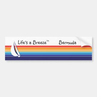 Boat Color Square_Life's a Breeze™_Bermuda Bumper Stickers