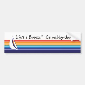 Boat Color Square_Life's a Breeze™_Carmel_bythesea Bumper Sticker