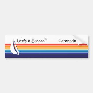 Boat Color Square_Life's a Breeze™_Coronado Bumper Sticker