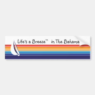 Boat Color Square_Life's a Breeze™_in The Bahamas Bumper Sticker