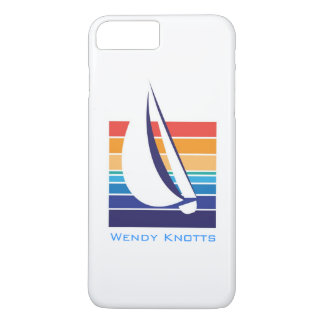 Boat Color Square_ocean to sunset hues_personalize iPhone 8 Plus/7 Plus Case