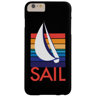 Boat Color Square_ocean-to-sunset_SAIL_on black Barely There iPhone 6 Plus Case