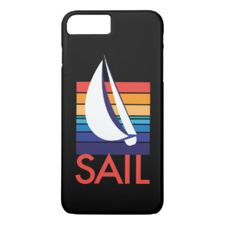 Boat Color Square_ocean-to-sunset_SAIL_on black iPhone 8 Plus/7 Plus Case