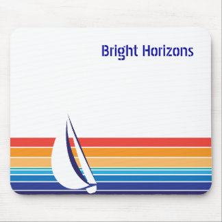 Boat Color Square_Office Package Mouse Pad