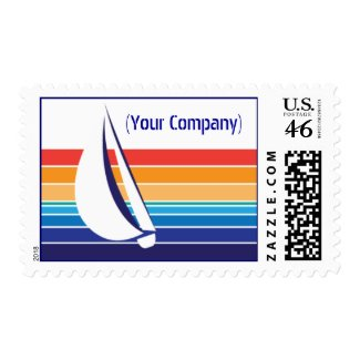 Boat Color Square_Office Package Postage stamp
