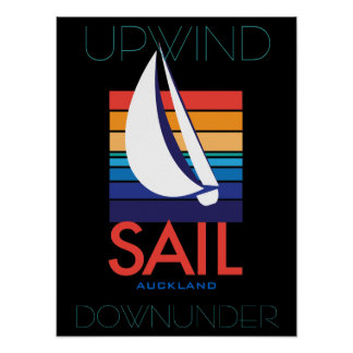 Boat Color Square_SAIL Auckland_Upwind DownUnder Poster