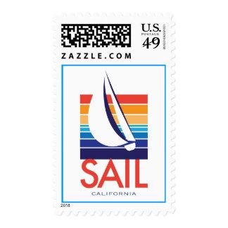 Boat Color Square_SAIL California postage