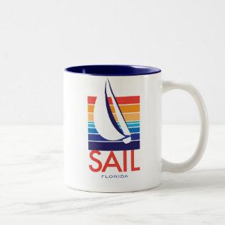 Boat Color Square_SAIL Florida Two-Tone Coffee Mug