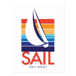 Boat Color Square_SAIL Key West Postcard