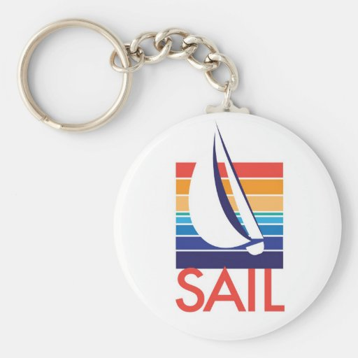 Boat Color Square_Sail keychain