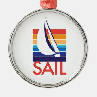 Boat Color Square_Sail necklace Metal Ornament
