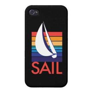 Boat Color Square_Sail_on black Cover For iPhone 4