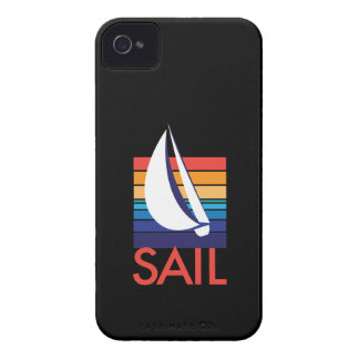 Boat Color Square_Sail_on black iPhone 4 Case