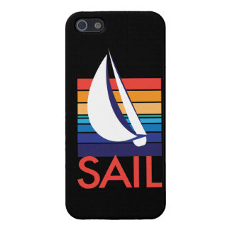 Boat Color Square_Sail_on black iPhone SE/5/5s Cover
