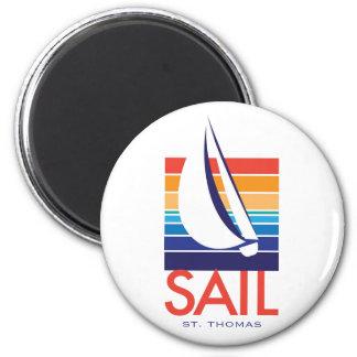 Boat Color Square_SAIL St Thomas magnet