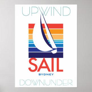 Boat Color Square_SAIL Sydney_Upwind DownUnder Poster