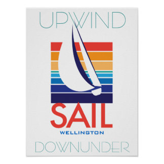Boat Color Square_SAIL Wellington_Upwind DownUnder Poster
