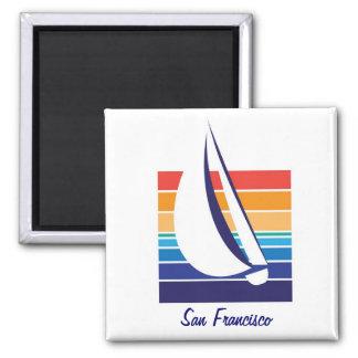 Boat Color Square_San Francisco Magnet