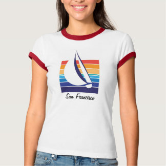 Boat Color Square_San Francisco T-Shirt