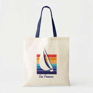 Boat Color Square_San Francisco Tote Bag