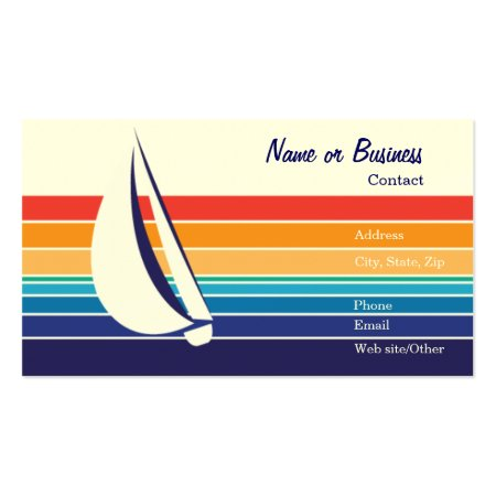 Colourful Design Boating Business Cards