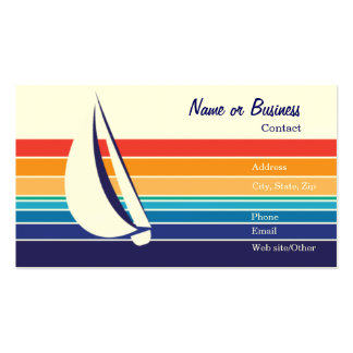 Boat Color Square_Template Double-Sided Standard Business Cards (Pack Of 100)