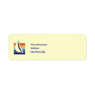 Boat Color Square_template Return Address Label